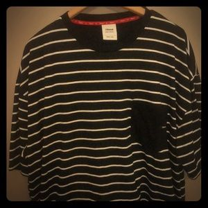 Soft black striped tee